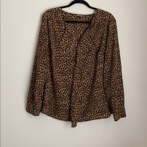 DANA BUCHMAN | animal print blouse